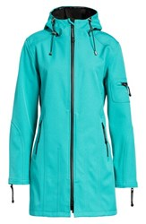 Ilse Jacobsen Rain 7 Hooded Water Resistant Coat Viridian Green