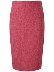 Pure Collection Cecil Wool Pencil Skirt Pink Herringbone