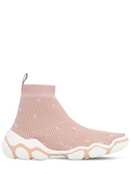 Red Valentino 30Mm Mesh Sock Sneakers Pink