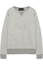 Levi's Crew Melange Cotton Sweatshirt Gray