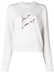 Saint Laurent Sweat Col Rond Destr Neutrals