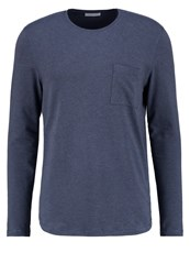 Selected Homme Shdflorian Long Sleeved Top Ombre Blue Blue Grey