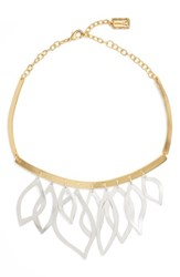 Karine Sultan Women's Two Tone Frontal Necklace Silver Gold Mix