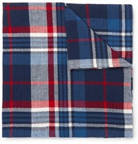 Polo Ralph Lauren Checked Cotton Pocket Square Navy
