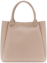Twin Set Large Shopper Tote Nude And Neutrals