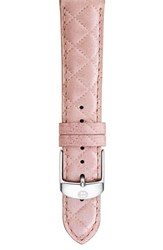 Women's Michele 20Mm Quilted Watch Strap Pearl Pink