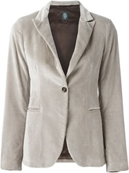 Eleventy Velvet Blazer Nude And Neutrals