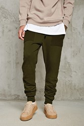 Forever 21 Drop Crotch Ruched Sweatpants
