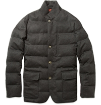 Loro Piana Storm System Down Filled Jacket Gray