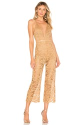 Majorelle Brandy Jumpsuit Metallic Gold