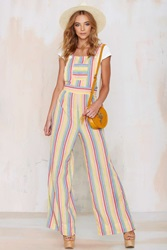 Nasty Gal Vintage Hue Are You Rainbow Overalls
