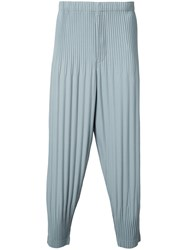 Homme Plisse Issey Miyake Long Baggy Trousers Men Polyester 2 Grey