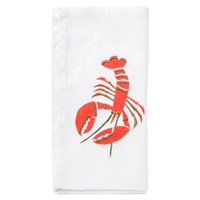 Embroidered Lobster Napkin