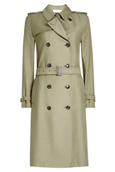 Closed Trench Coat With Cotton