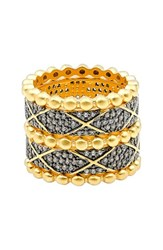 Freida Rothman Women's Baroque Blues Set Of 5 Stackable Rings