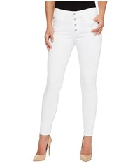 Ag Adriano Goldschmied Farrah Skinny Ankle E Button Up In White White Women's Jeans