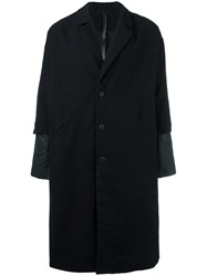 Barbara I Gongini Layered Sleeve Cocoon Coat Black