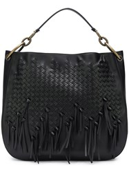Bottega Veneta Intrecciato Shoulder Bag Black