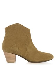 Isabel Marant Etoile Dicker 55Mm Suede Ankle Boots Brown