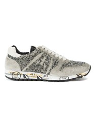 Premiata Logo Patch Sneakers Grey