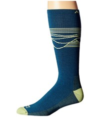 Wigwam West Rim Pro Majolica Blue Men's Crew Cut Socks Shoes Multi
