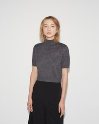 Rachel Comey Cropped Sweater Tee Charcoal