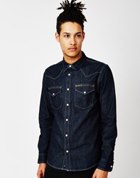 Lee L643 Western Shirt Slim Fit Blue