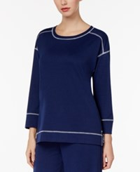 Charter Club High Low Pajama Top Only At Macy's Medieval Blue