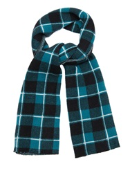 Baja East Plaid Knit Cashmere Scarf