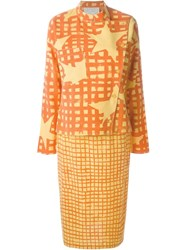 Jc De Castelbajac Vintage Skirt And Blouse Suit Yellow And Orange