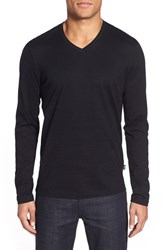 Boss Men's 'Tyson' V Neck Long Sleeve T Shirt