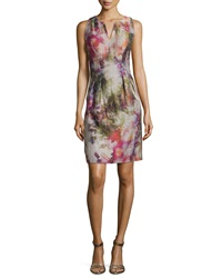 Kay Unger New York Sleeveless Floral Print Dress