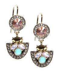 Lonna And Lilly Multi Stone Double Drop Earrings Multi Colored