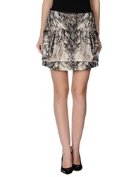 Roberto Cavalli Mini Skirts Grey