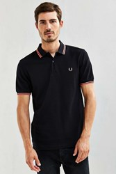 Fred Perry Classic Twin Stripe Polo Shirt Black Multi
