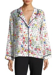 Design Lab Lord And Taylor Floral Pajama Top White