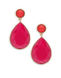 Trina Turk Faceted Teardrop Drop Earrings