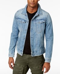 G Star Raw Men's 3301 Slim Fit Deconstructed 3D Denim Jacket Light Aged