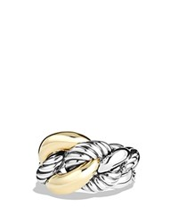 David Yurman Belmont Ring With 18K Gold Silver Gold