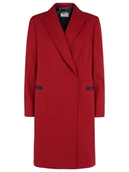 Planet Funnel Neck Coat Red