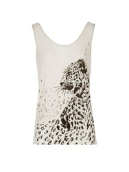 Morgan Printed Sleeveless Top Winter White