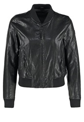 Freaky Nation Call Me Faux Leather Jacket Black
