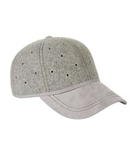 Christys' London Perforated Baseball Cap Unisex Grey