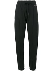 Re Done Black Logo Embroidered Trackpants Women Cotton L