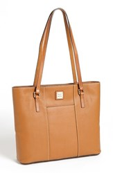 Dooney And Bourke 'Lexington Pebble Grain Collection' Water Resistant Tumbled Leather Shopper Brown