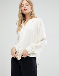 D.Ra Margot Open Collar Shirt White