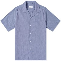 Albam Short Sleeve Panama Shirt Blue