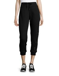 Calvin Klein Drawstring Cropped Sweatpants Black Rose Gold