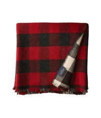 Pendleton Rob Roy Double Weave Throw Red Black Scarves