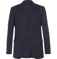 Ermenegildo Zegna Blue Slim Fit High Performance Wool Travel Blazer Navy
